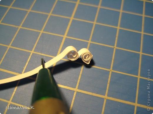 Мастер-класс Квиллинг: Снежинки. Бумажные полосы Новый год. Фото 12