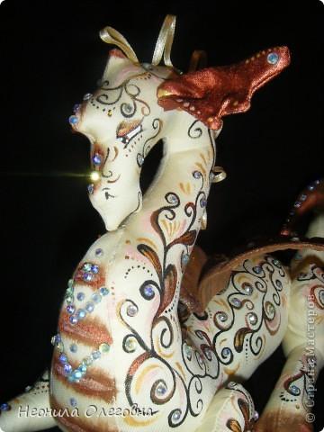 Мастер-класс Роспись, Шитьё: МК Интерьерный Дракон... Ткань Новый год. Фото 29