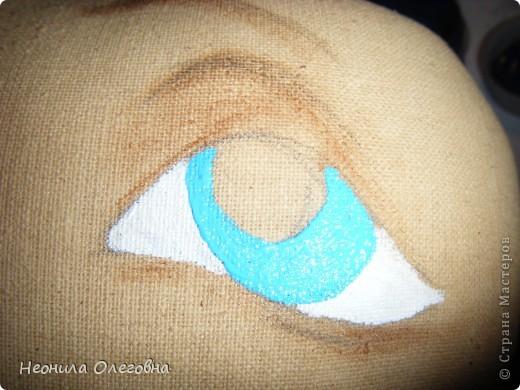 Мастер-класс Роспись, Шитьё: МК рисуем лицо текстильной кукле... Краска, Ткань. Фото 8