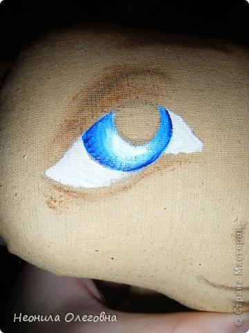 Мастер-класс Роспись, Шитьё: МК рисуем лицо текстильной кукле... Краска, Ткань. Фото 9