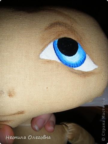 Мастер-класс Роспись, Шитьё: МК рисуем лицо текстильной кукле... Краска, Ткань. Фото 10