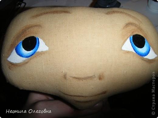 Мастер-класс Роспись, Шитьё: МК рисуем лицо текстильной кукле... Краска, Ткань. Фото 11