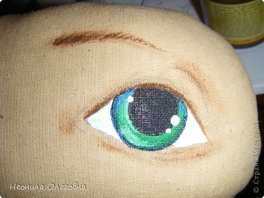 Мастер-класс Роспись, Шитьё: МК рисуем лицо текстильной кукле... Краска, Ткань. Фото 14