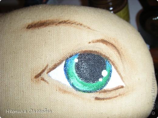 Мастер-класс Роспись, Шитьё: МК рисуем лицо текстильной кукле... Краска, Ткань. Фото 15