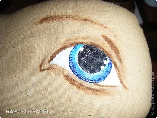 Мастер-класс Роспись, Шитьё: МК рисуем лицо текстильной кукле... Краска, Ткань. Фото 18