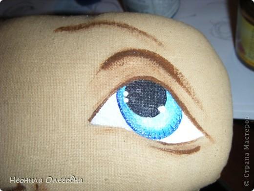 Мастер-класс Роспись, Шитьё: МК рисуем лицо текстильной кукле... Краска, Ткань. Фото 22