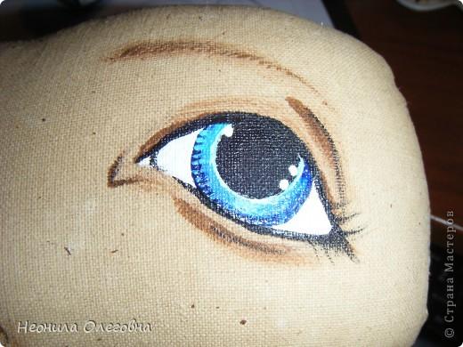 Мастер-класс Роспись, Шитьё: МК рисуем лицо текстильной кукле... Краска, Ткань. Фото 24