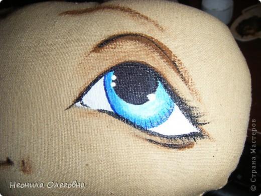 Мастер-класс Роспись, Шитьё: МК рисуем лицо текстильной кукле... Краска, Ткань. Фото 26