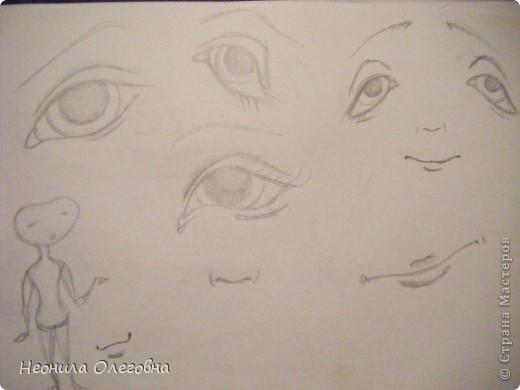 Мастер-класс Роспись, Шитьё: МК рисуем лицо текстильной кукле... Краска, Ткань. Фото 5