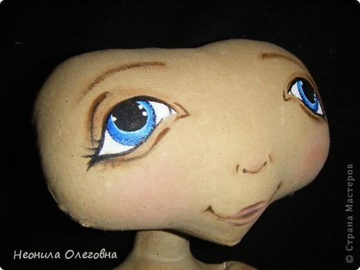 Мастер-класс Роспись, Шитьё: МК рисуем лицо текстильной кукле... Краска, Ткань. Фото 30