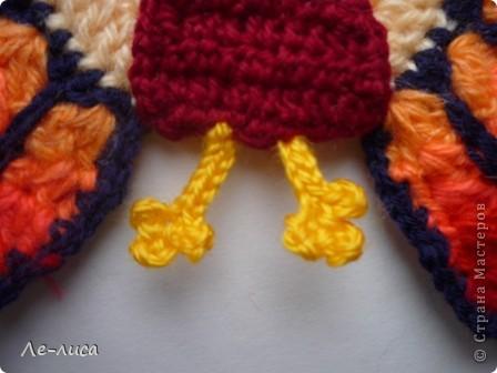 Мастер-класс Вязание крючком: Вязаные прихватки ПАВЛИНЫ Пряжа. Фото 11