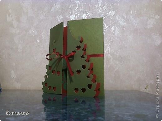 Открытка Вырезание: Ёлки!!!! Одна краше другой... Картон Новый год. Фото 3