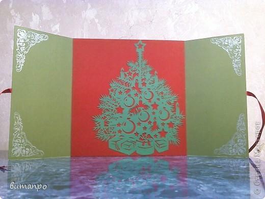 Открытка Вырезание: Ёлки!!!! Одна краше другой... Картон Новый год. Фото 6
