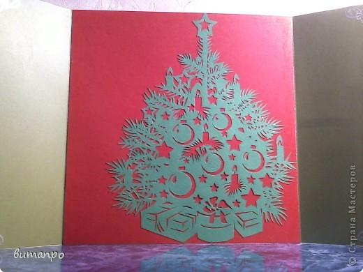 Открытка Вырезание: Ёлки!!!! Одна краше другой... Картон Новый год. Фото 7