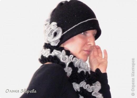 как связать шарф вивьен из готовых ниток.