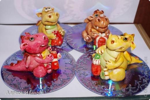 Мастер-класс, Поделка, изделие Лепка: МК по дракончикам Тесто соленое Новый год. Фото 1