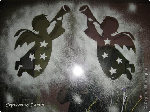 Интерьер, Украшение Роспись: Оформление зеркал к Новому году в детском саду Гуашь Новый год. Фото 1
