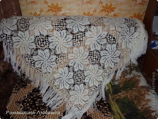 Гардероб Вязание крючком: Моя первая шаль Пряжа. Фото 1