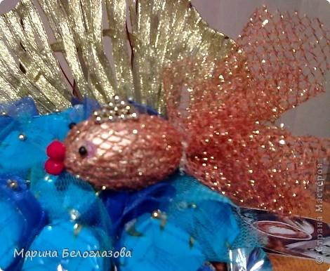 Золотая рыбка из ткани своими руками