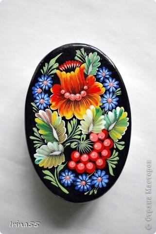 Поделка, изделие Папье-маше, Рисование и живопись: шкатулки Гуашь. Фото 4
