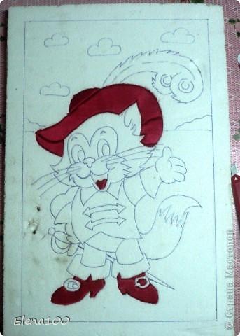 Знайте, этого плутишку Никому не обхитрить: Людоеда, словно мышку, Умудрился проглотить! И шпоры звенят у него на ногах, Скажите мне, кто это?...  Работа