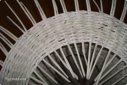 Поделка, изделие Декупаж, Плетение: Столик для вязания Бумага, Картон. Фото 11