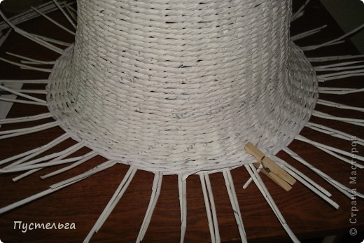 Поделка, изделие Декупаж, Плетение: Столик для вязания Бумага, Картон. Фото 13
