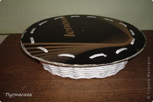 Поделка, изделие Декупаж, Плетение: Столик для вязания Бумага, Картон. Фото 17