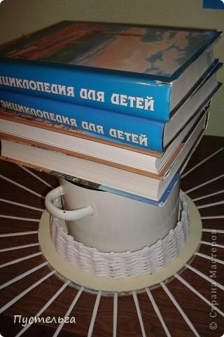 Поделка, изделие Декупаж, Плетение: Столик для вязания Бумага, Картон. Фото 18