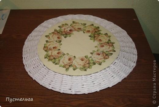 Поделка, изделие Декупаж, Плетение: Столик для вязания Бумага, Картон. Фото 20