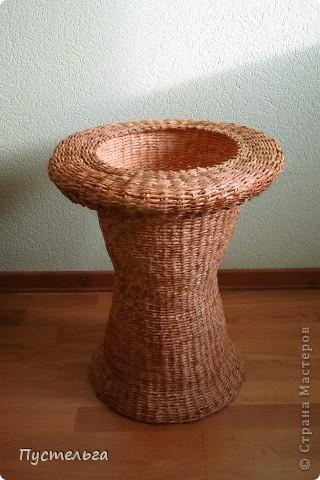 Поделка, изделие Декупаж, Плетение: Столик для вязания Бумага, Картон. Фото 21