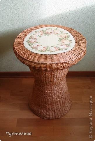 Поделка, изделие Декупаж, Плетение: Столик для вязания Бумага, Картон. Фото 23