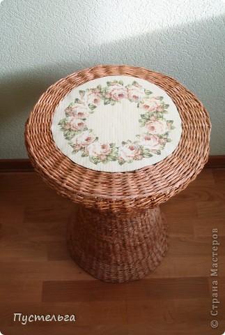 Поделка, изделие Декупаж, Плетение: Столик для вязания Бумага, Картон. Фото 2
