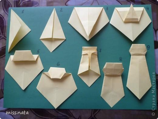 День республики, оригами открытка галстук