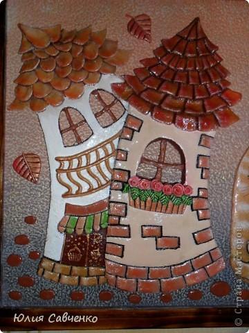 Картина, панно, Поделка, изделие Лепка, Роспись: Картина из солёного теста Гуашь, Тесто соленое. Фото 2