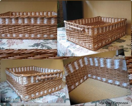 Поделка, изделие Плетение: Короб для хранения-2, МК ручки и верха Бумага, Бумага газетная, Бумажные полосы, Картон, Клей, Прищепки. Фото 2
