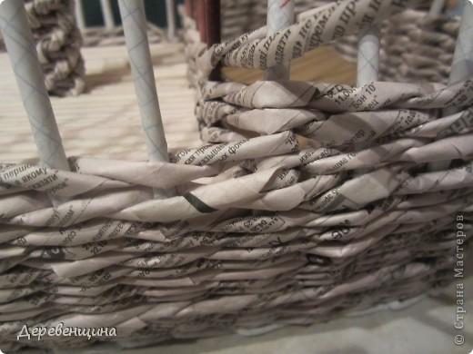 Мастер-класс Плетение: Небольшое отступление от курса. Бумага газетная, Трубочки бумажные. Фото 30