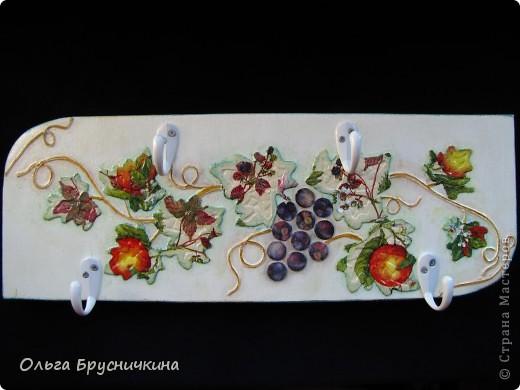 "Декор предметов, Мастер-класс, Поделка, изделие Декупаж: ""Виноградная лоза"" Салфетки, Фанера. Фото 1"