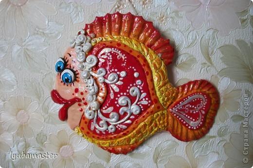 Поделка, изделие Лепка: рыбы сердечные для души Тесто соленое Валентинов день. Фото 2