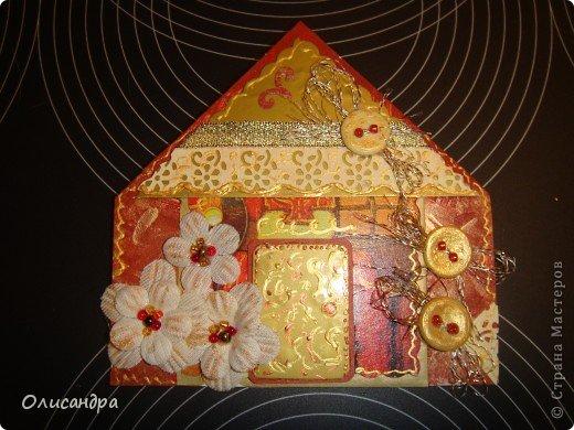 """Давно не скрапила...Соскучилась по этому занятию...И опять было страшно начинать... Продолжаю делать домики, """"заклинило"""" ...:)) МК по закладочкам здесь... <a href=""""http://scraphouse.ru/masterclass/flowers-and-decorations/beautiful-bookmarks-for-book.html"""" title=""""http://scraphouse.ru/masterclass/flowers-and-decorations/beautiful-bookmarks-for-book.html"""">http://scraphouse.ru/masterclass/flowers-and-decorations/beautiful-bookm...</a>. Фото 4"""