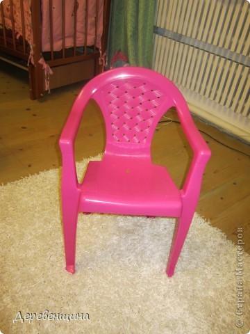 Да-да. Забывайте. Потому что отныне это креслице будем видеть только на фотографии. Оно красивое, для девочки. Но... такие есть у всех. Будем его прятать!!!. Фото 1