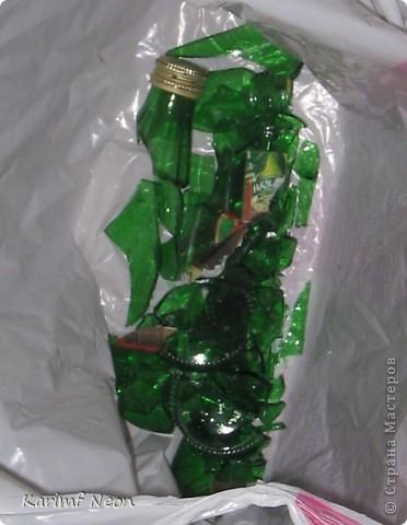 Мастер-класс, Украшение Бисероплетение: БУТЫЛКА на Шею - в подарок :) Бисер, Бутылки стеклянные. Фото 2