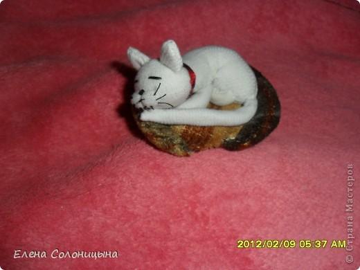 Мастер-класс Шитьё: Шьем кошку в кукольный домик  Вата, Нитки, Ткань. Фото 1