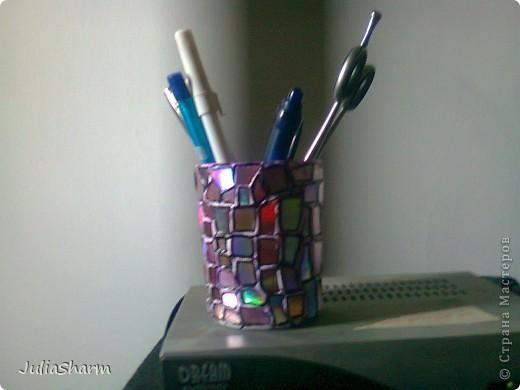 "Декор предметов, Мастер-класс Мозаика: Стаканчик ""Мозайка"" Стекло. Фото 9"