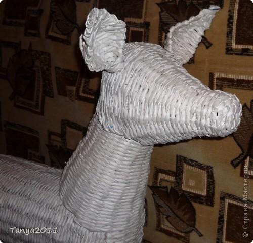 Мастер-класс Плетение: Плетём из газет оленя. Часть 2. Бумага газетная. Фото 23