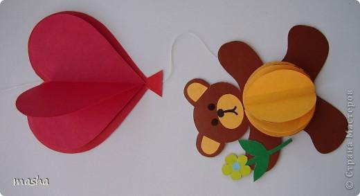 Мишка из цветной бумаги поделка
