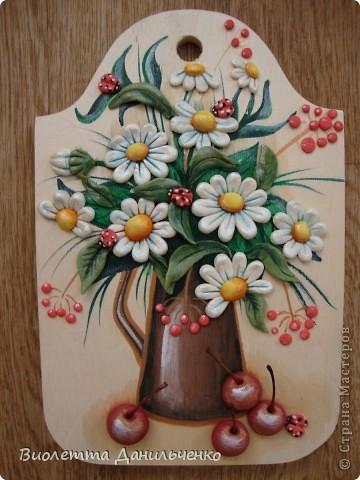 Декор предметов Лепка: Досточки и подсолнухи к 8 марта Тесто соленое 8 марта. Фото 7