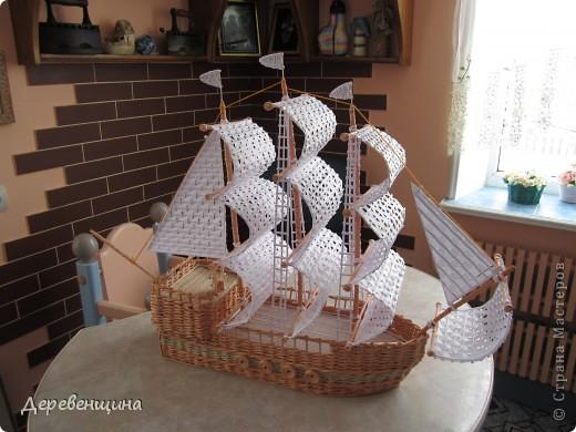 Поделка, изделие Плетение: Что нам стоит флот построить??? Бумага газетная. Фото 1