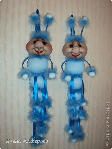 Куклы Моделирование: Гусеницы!!! Капрон, Нитки, Ткань. Фото 1