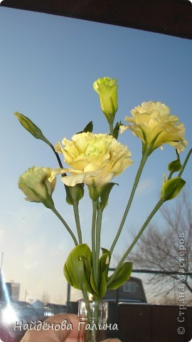 Доброе время суток ,дорогие рукодельницы!По себе знаю как сложно порой бывает сделать красивый,ровный стебель у цветкаНа примере эустомы хочу поделиться своим способом
